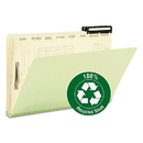 SMEAD MANUFACTURING CO. SMD78208 Pressboard Mortgage File Folder With Dividers & Metal Tab, Legal, Green, 10/box