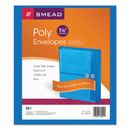 SMEAD MANUFACTURING CO. SMD89522 Poly String & Button Booklet Envelope, 9 3/4 X 11 5/8 X 1 1/4, Blue, 5/pack
