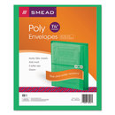 SMEAD MANUFACTURING CO. SMD89523 Poly String & Button Booklet Envelope, 9 3/4 X 11 5/8 X 1 1/4, Green, 5/pack