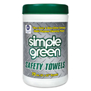 simple green SMP13351CT Safety Towels, 10 X 11 3/4, 75/canister, 6 Per Carton
