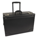 BOND STREET LTD. STB341626BLK Rolling Catalog Case, Leather-Trimmed Tufide, 21 3/4 X 15 1/2 X 9 3/4, Black