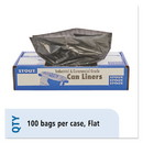Envision Stout T4349B15 Total Recycled Content Plastic Trash Bags, 56 gal, 1.5 mil, 43
