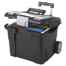 Storex STX61507U01C Premium File Cart, 15w X 16 3/8d X 14 1/4 To 30h, Black