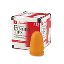 ACCO BRANDS SWI54033 Rubber Finger Tips, 13 (large), Amber, Dozen
