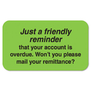 TABBIES TAB04220 Labels, Friendly Reminder, 7/8 X 1-1/2, Fluor Green, 250/roll