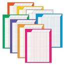 TREND ENTERPRISES, INC. TEPT73901 Vertical Incentive Chart Pack, 22w X 28h, 8 Assorted Colors, 8/pack