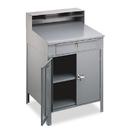 TENNSCO TNNSR58MG Steel Cabinet Shop Desk, 36w X 30d X 53-3/4h, Medium Gray