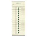 TOPS BUSINESS FORMS TOP1258 Job Card For Cincinnati/lathem/simplex, 1 Side, 3 1/2 X 9, 500/box