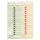 TOPS BUSINESS FORMS TOP1275 Time Card For Lathem, Bi-Weekly, Two-Sided, 3 1/2 X 9, 500/box
