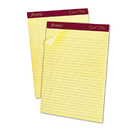 Ampad TOP20020 Gold Fibre Ruled Pad, 8 1/2 X 11 3/4, Canary, 50 Sheets, Dozen