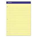Ampad TOP20223 Double Sheets Pad, College/medium, 8 1/2 X 11 3/4, Canary, 100 Sheets