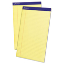 Ampad TOP20230 Perforated Writing Pad, 8 1/2 X 14, Canary, 50 Sheets, Dozen