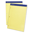 Ampad TOP20243 Double Sheets Pad, Legal/wide, 8 1/2 X 11 3/4, Canary, 100 Sheets