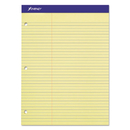 Ampad TOP20245 Double Sheets Pad, Law Rule, 8 1/2 X 11 3/4, Canary, 100 Sheets
