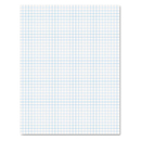 Ampad TOP22000 Quadrille Pads, 4 Squares/inch, 8 1/2 X 11, White, 50 Sheets