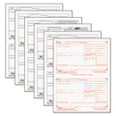 TOPS BUSINESS FORMS TOP22991 W-2 Tax Forms, 6-Part, 8 1/2 X 5 1/2, Inkjet/laser, 50 W-2s & 1 W-3