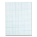 TOPS BUSINESS FORMS TOP35101 Cross Section Pads W/10 Squares, 8 1/2 X 11, White, 50 Sheets