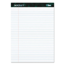 TOPS BUSINESS FORMS TOP63410 Docket Ruled Perforated Pads, 8 1/2 X 11 3/4, White, 50 Sheets, Dozen