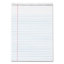 TOPS BUSINESS FORMS TOP63631 Docket Wirebound Ruled Pad W/cover, 8 1/2 X 11 3/4, White, 70 Sheets