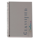 TOPS BUSINESS FORMS TOP73507 Classified Colors Notebook, Graphite Cover, 5 1/2 X 8 1/2, White, 100 Sheets