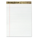 TOPS BUSINESS FORMS TOP74085 Second Nature Recycled Letter Pads, Lgl/red Margin Rule, White, 50 Sheets, Dozen