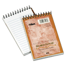 Tops TOP74135 Second Nature Subject Wirebound Notebook, Narrow, 3 X 5, White, 50 Sheets