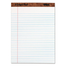 TOPS BUSINESS FORMS TOP7533 The Legal Pad Ruled Perforated Pads, 8 1/2 X 11 3/4, White, 50 Sheets, Dozen