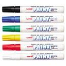 Uni Paint  63630 Permanent Marker, Medium Bullet Tip, Assorted Colors, 6/Set