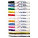 Uni Paint  63631 Permanent Marker, Medium Bullet Tip, Assorted Colors, 12/Set