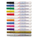 Uni Paint  63721 Permanent Marker, Fine Bullet Tip, Assorted Colors, 12/Set