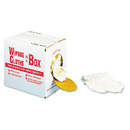 UNITED FACILITY SUPPLY UFSN205CW05 Multipurpose Reusable Wiping Cloths, Cotton, White, 5lb Box