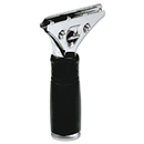 Unger UNGPR00 Pro Stainless Steel Squeegee Handle, Rubber Grip, Black/steel, Screw Clamp