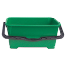 Unger UNGQB220 Pro Bucket, 6gal, Plastic, Green