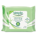 Simple 70005CT Eye And Skin Care, Facial Wipes, 25/Pack, 6 Packs/Carton