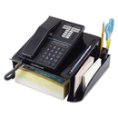 UNIVERSAL PRODUCTS UNV08116 Telephone Stand And Message Center, 12 1/4 X 10 1/2 X 5 1/4, Black