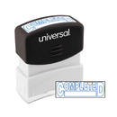 Universal UNV10044 Message Stamp, Completed, Pre-Inked One-Color, Blue Ink