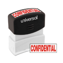 Universal UNV10046 Message Stamp, Confidential, Pre-Inked One-Color, Red