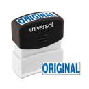 Universal UNV10060 Message Stamp, Original, Pre-Inked One-Color, Blue
