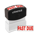 Universal UNV10063 Message Stamp, Past Due, Pre-Inked One-Color, Red