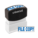 Universal UNV10104 Message Stamp, File Copy, Pre-Inked One-Color, Blue