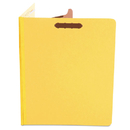 UNIVERSAL PRODUCTS UNV10204 Pressboard Classification Folders, Letter, Four-Section, Yellow, 10/box