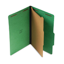 UNIVERSAL PRODUCTS UNV10212 Pressboard Folder, Legal, Four-Section, Emerald Green, 10/box
