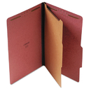 UNIVERSAL PRODUCTS UNV10260 Pressboard Classification Folder, Legal, Four-Section, Red, 10/box