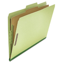 UNIVERSAL PRODUCTS UNV10261 Pressboard Classification Folder, Legal, Four-Section, Green, 10/box