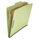 UNIVERSAL PRODUCTS UNV10271 Pressboard Classification Folder, Letter, Six-Section, Green, 10/box