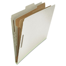 UNIVERSAL PRODUCTS UNV10282 Pressboard Classification Folder, Legal, Six-Section, Gray, 10/box