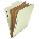 UNIVERSAL PRODUCTS UNV10293 Pressboard Classification Folder, Letter, Eight-Section, Gray-Green, 10/box