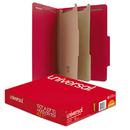 UNIVERSAL PRODUCTS UNV10303 Pressboard Classification Folders, Letter, Six-Section, Ruby Red, 10/box