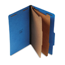 UNIVERSAL PRODUCTS UNV10311 Pressboard Classification Folders, Legal, Six-Section, Cobalt Blue, 10/box
