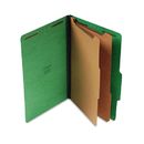 UNIVERSAL PRODUCTS UNV10312 Pressboard Classification Folders, Legal, Six-Section, Emerald Green, 10/box